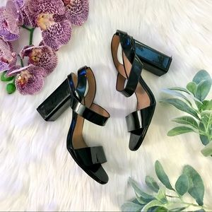 H&M Black Chunky Block Heel Strappy Sandals